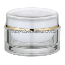 100ml redonda de acrílico transparente cosméticos jarra al por mayor