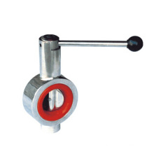 Sanitary Butterfly Valve with Red Silicon Seal