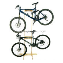 Free Design Simple Wooden Display Floor Standing Custom Cycling Store Wood Fiber Bicycle Display Rack