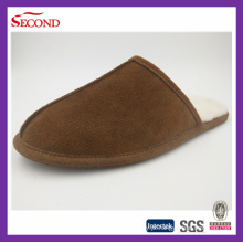 Camurça de vaca confortável sapatos homens chinelos indoor