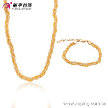 63413 nigeriano casamento talão de jóias de moda 18 k pequeno talão conjuntos de jóias de liga de cobre