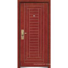 Puerta blindada de acero / Puerta de seguridad de madera de acero (YF-G9002)