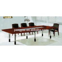 metal leg meeting table with glass