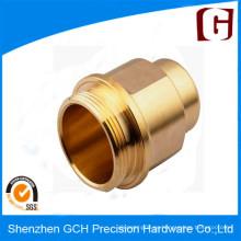 Parte de mecanizado CNC de cobre amarillo de precisión de Top Rank de alta calidad