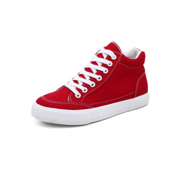 Bianco Mid Top Canvas Shoes Donna