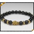 Mode 8mm en pierre naturelle Onyx bracelets en or bracelets en or (CB0125)