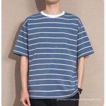 Customizable XL cotton sweat-absorbent men's summer casual T-shirt