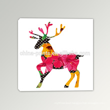 Abstract Deer Painting Frameless Canvas Printing