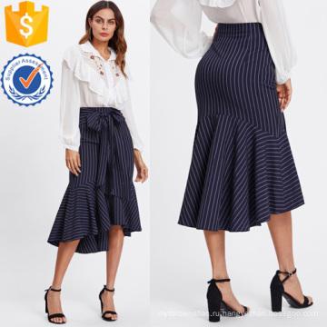Рыбий хвост с низким подолом в полоску юбка Производство Оптовая продажа женской одежды (TA3100S)