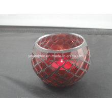 Photophore rouge mosaïque en cadeau de luxe