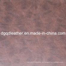 Gute elastische Qualitätsmöbel PVC-Leder (QDL-51540)