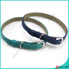 Royal Blue Shinny Leder Katzenhalsband Großhandel (PC16041405)