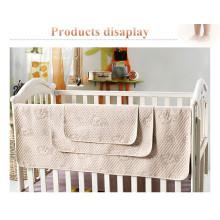 Almofada impermeável de quatro camadas de bambu e algodão orgânico para bebê