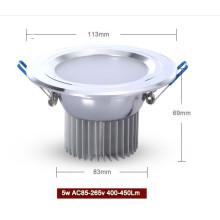 5W conduit downlight aluminium et matériel PCB