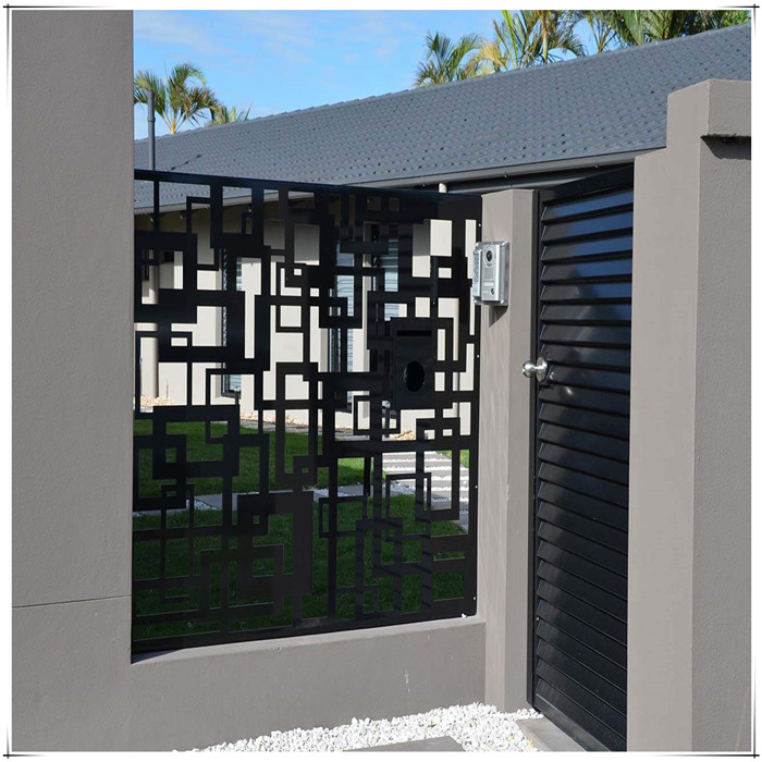 Laser Cut metal fence and gates
