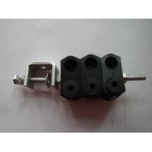 Alimentador de abrazadera para el tamaño del cable de fibra