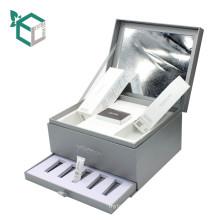 Boîte cosmétique faite sur commande de carton de boîte à emballer de papier de lien supplémentaire