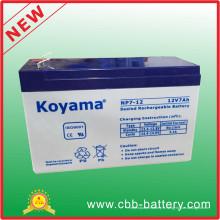 Batterie au plomb d'AGM de 12V 7ah pour l'éclairage de secours, UPS, protecteur de montée subite