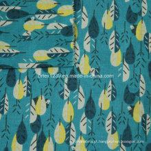 21Wales tecido de veludo impresso para vestuário sem Spandex