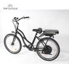 Bicicletas eléctricas de aluminio del crucero de la playa del interruptor barato S2 / bici del ebike del crucero de la playa