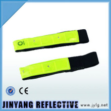glow in dark LED pvc slap wrap reflective armband
