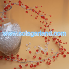 Acrylic Crystal Faceted Bead Garland Beaded Branch