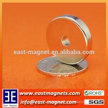 OD25 * ID5 * imán de neodimio de 5mm anillo para la venta / N35 imán fuerte para lavadora