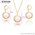 63531-Xuping wholesale gold plated pearl jewelry sets, fashion jewelry