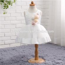 Dernières enfants robes dentelle anniversaire court A Line Flower Girl robes modèle pour les enfants partie