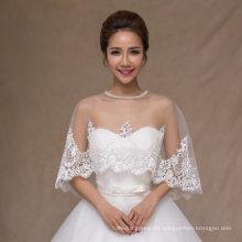 Aoliweiya Bridal Wraps Wedding Jacket Bride Shawl with Lace