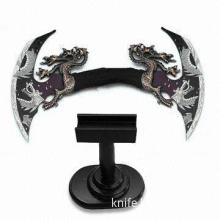 Zinc Alloy Handle Craft Knife in Dragon Design and Wood Stand