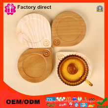 Custom Shapes Advertising Wooden Cup Mat Pad