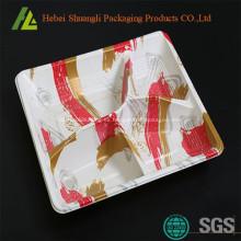 Bandejas desechables de plástico para alimentos con compartimentos