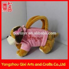 Großhandelsplüschtierhandtasche nette Valentinsgrußhundetasche rosa Tiertasche