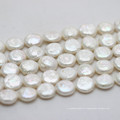13-14mm White Baroque Coin Cultured Pearl Strands (E190023)