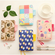 New Trendy Fashion A5 PU Leather Binder Planner, Macarons Notebooks Stationery
