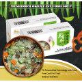 Sopa de quingombó comida baja en grasa y nutritiva liofilizada