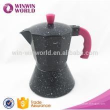 2016 nuevos productos aluminumtop cafetera de café espresso profesional / cafetera antigua