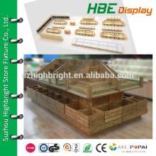 super markets wood shelf/ supermarket wooden shelf/ supermarket vegetable and fruit display shelf