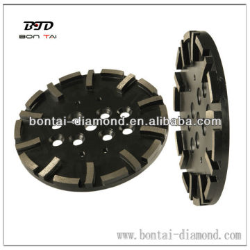 """10"""" 250mm diamond tool to fit Blastrac machine that can be changed to fit other machines"""