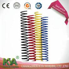 Encadernação de arame espiral recoberta de nylon