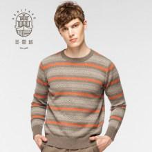 Men's Fair Isle pure cashmere sweater