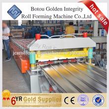 Überlegene Qualität Farbige Stahldach Fliesenrollenformmaschine