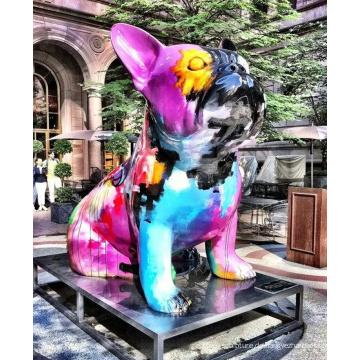 Bronze Gießerei Tier Metall Bronze französische Bulldogge Statue
