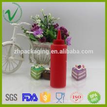 LDPE de alta calidad rojo botella de botella de plástico suave botella de plástico 5 onzas para la salsa