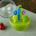 Artículos promocionales / regalo de Navidad para cuchillo de cerámica plegable / tenedores / juego de herramientas de frutas