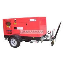 Kusing Móvil Trailer Diesel Generador Insonorizado