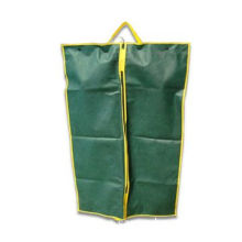 Garment bag with two pairs button, for foldable use, made of 80g nonwoven fabric