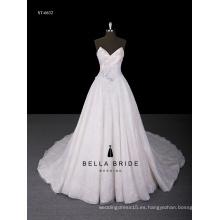 2017 el más nuevo estilo appliqued el vestido de bola vestido del vestido de boda con el neckline del amor