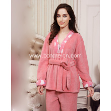 Premium Ladies Kimono Soft Touch Fleece Pajamas